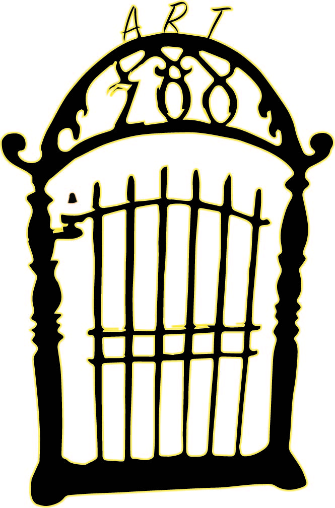 Art Zoo - Black and Gold Zoo Gate Logo, 26th May 2018, The Harris Museum and Gallery