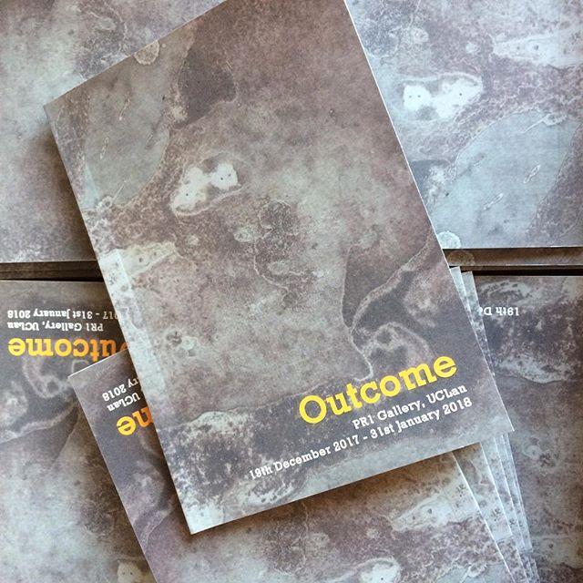Outcome Exhibition Catalogue, PR1 Gallery 2017 to 2018