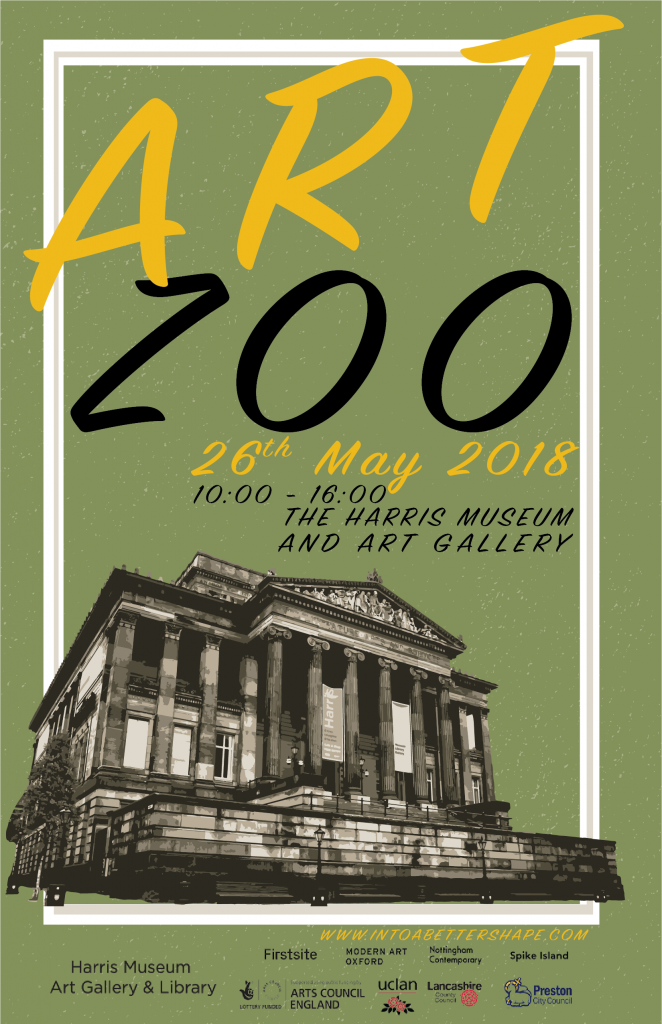 Art Zoo at the Harris Museum and Gallery, Preston, 2018 in conjunction with Lubaina Himid's Hard Times Exhibition