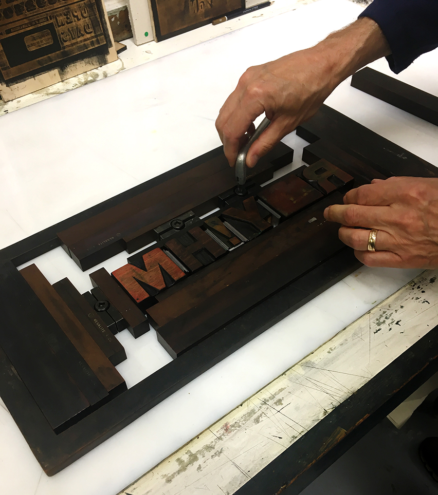 Creative Letterpress with David Armes at Artlab CPS 2018, Masters