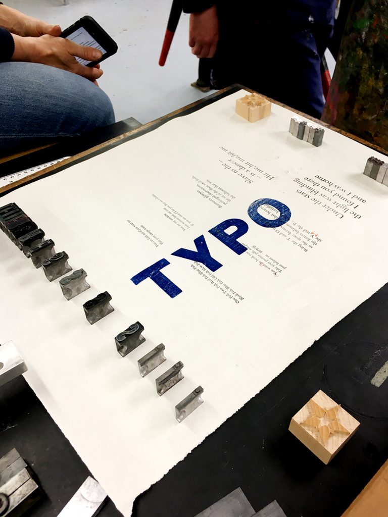 Creative Typesetting with David Armes at Artlab CPS 2018, Masters