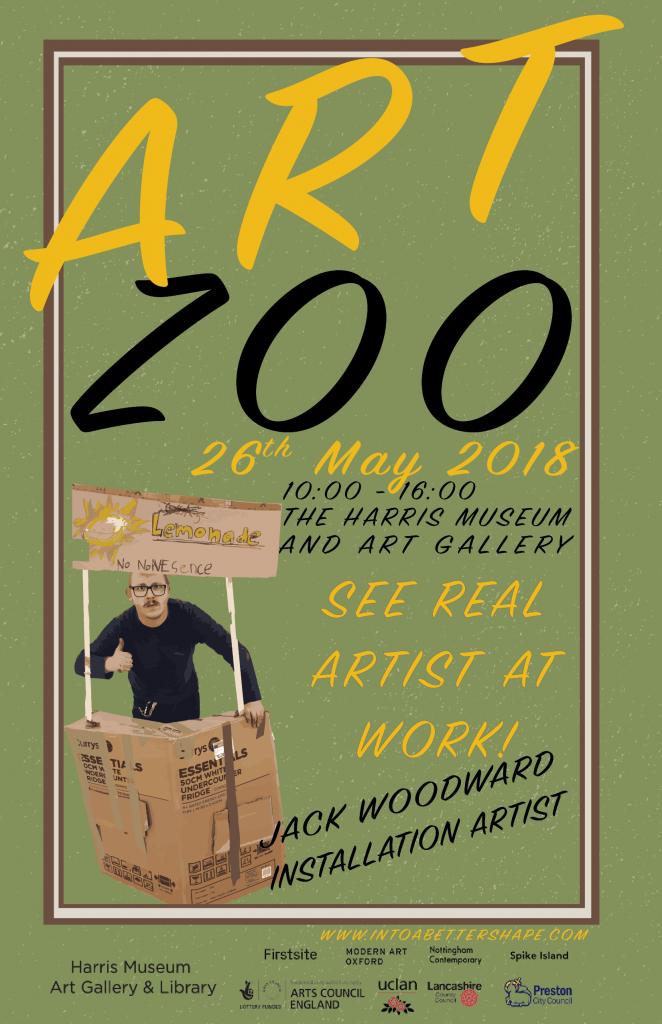 Jack Woodward - Installation Artist, Art Zoo, The Harris Preston 2018, Lubaina Himid, Hard Times, Artists At Work
