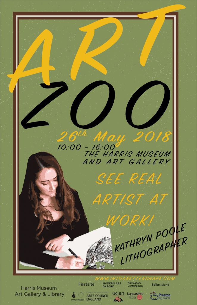 Kathryn Poole - Installation Artist, Art Zoo, The Harris Preston 2018, Lubaina Himid, Hard Times, Artists At Work