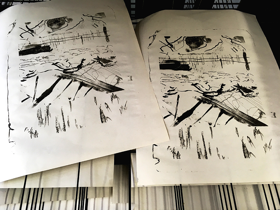 Masters Collaborative Drawing and Lithography Drawing Event at Artlab 2018