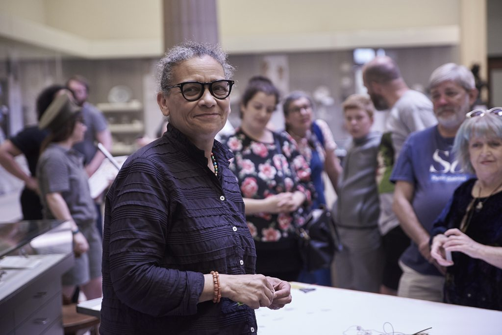 Lubaina Himid Jane Elizabeth Bennett's Art Zoo at the Harris Museum and Art Gallery - Photograph by Garry Cook