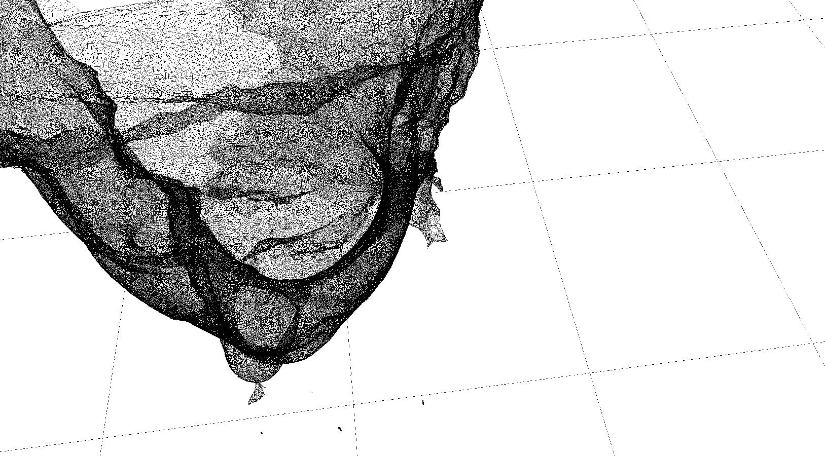 Developing 3D scans, 2018, August Experiments, Jane Elizabeth Bennett