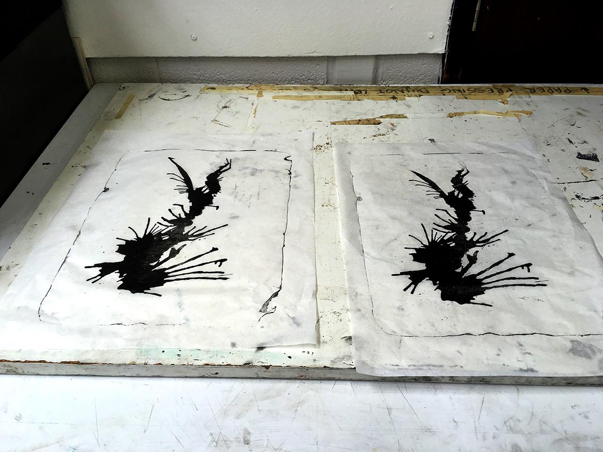 Lithography, August Experimentation, Jane Elizabeth Bennett