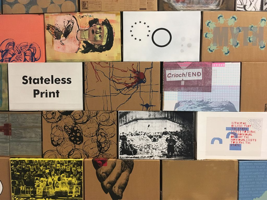 State of Print, Screen printed box installation University of Central Lancashire