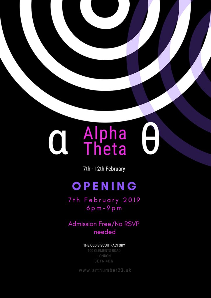 Alpha Theta Exhibition Poster