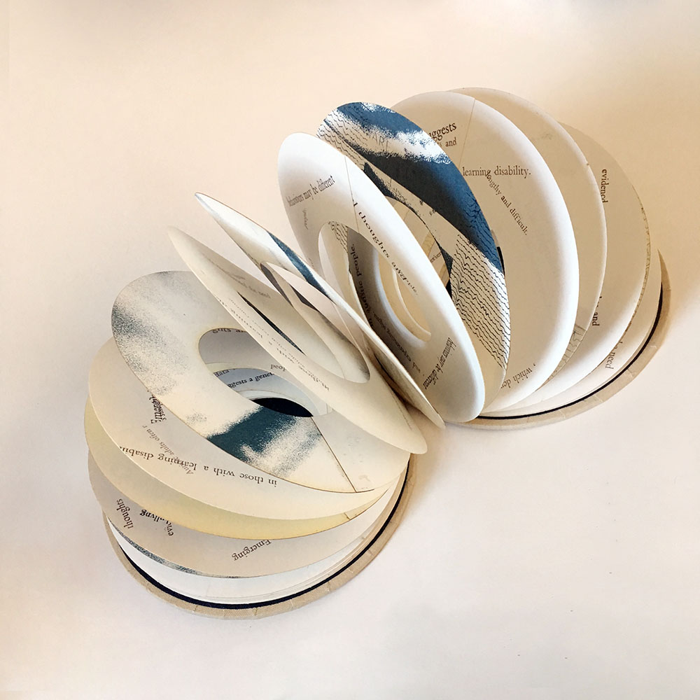 Circular hand made book, are you book enough